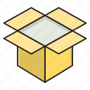 box, delivery, open, parcel, package icon