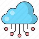 database, online, connection, cloud, computing icon