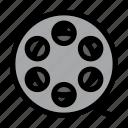cinema, film, movie, reel, spool icon