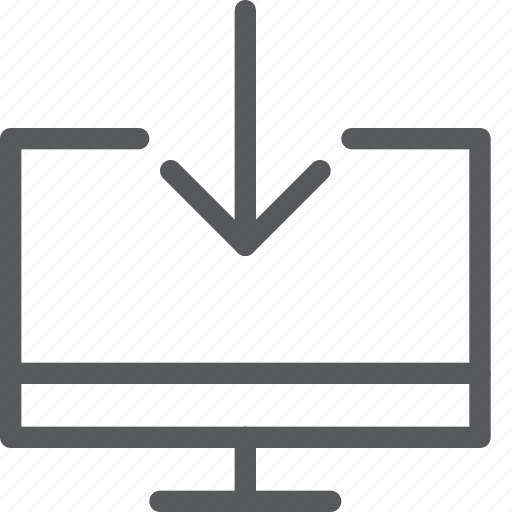 computer, data, download, imac, save, screen, transfer icon