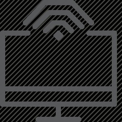 computer, data, imac, screen, transfer, wifi, wireless icon