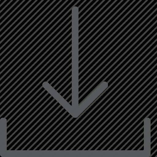 arrow, data, down, download, import, save, tranfer icon