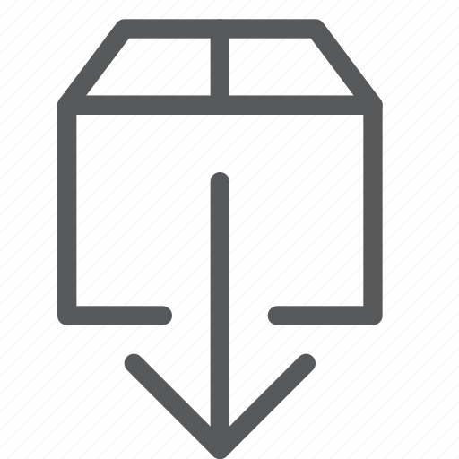 arrow, data, down, download, file, harddrive, package, save icon