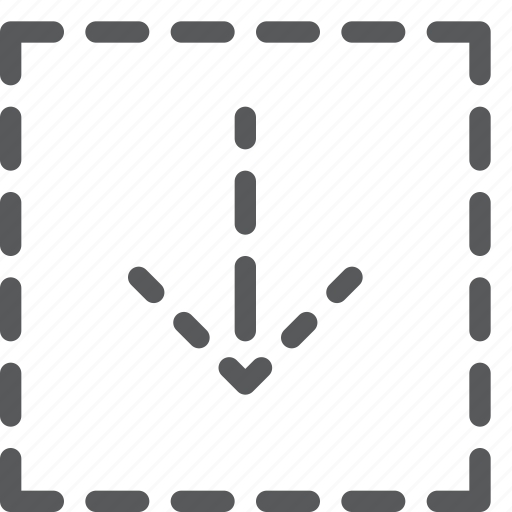 arrow, box, data, down, download, import, save, square icon