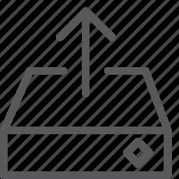 arrow, data, harddrive, send, share, transfer, up, upload icon