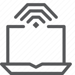 connect, data transfer, internet, laptop, macbook, network, notebook, wifi icon