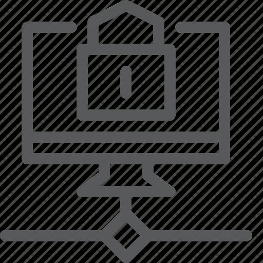data, encrypt, imac, lock, network, protect, screen, transfer icon
