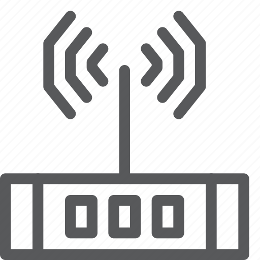 connection, data transfer, internet, modem, router, signal, wifi, wireless icon