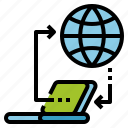 cloud, connection, data, network, online, transfer icon