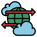 connection, data, global, network, online, transfer icon