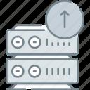 data, database, hosting, server, storage, transfer, web icon