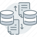 data, database, exchange, file, storage, transfer icon