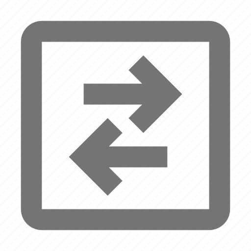arrows, data, direction, left, navigation, right, send, transfer icon