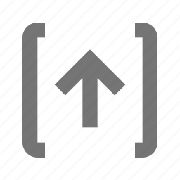 arrow, direction, navigation, pointer, send, transfer, up, upload icon