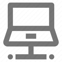computer, connect, data, device, laptop, network, tech icon