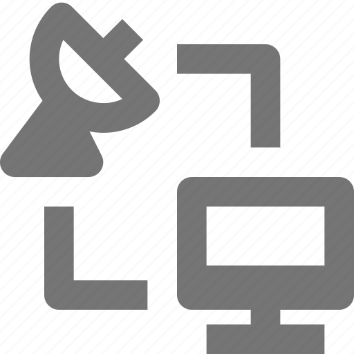 computer, connect, data, exchange, network, satellite, share, transfer icon