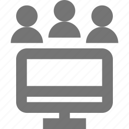 group, meeting, monitor, office, people, profile, team, user icon