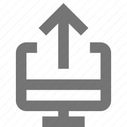 arrow, computer, up, upload icon