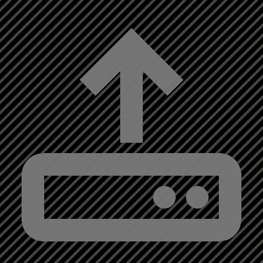 arrow, harddisk, up, upload icon