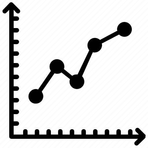 analytics, data visualization, line chart, line graph, statistic icon