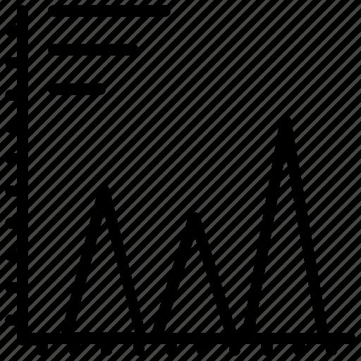 analytics, dashboard, data visualization, frequency polygon, graph icon