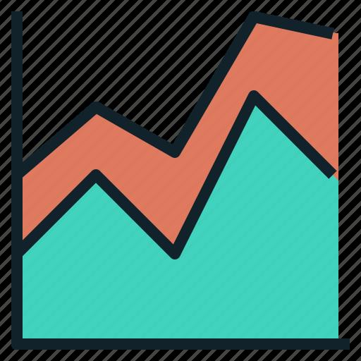 area, chart, graph, line icon