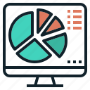 chart, data, pie, presentation, report, visualization icon