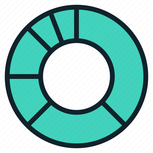 chart, circular, donut, infographics icon