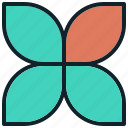 chart, data, flower, group, information icon