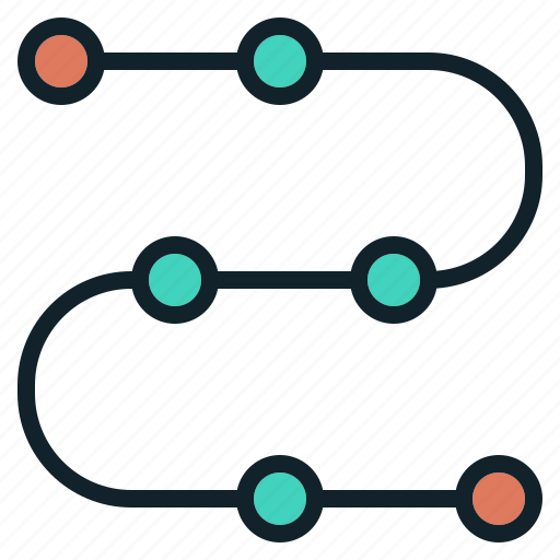 chart, line, process, step, timeline icon