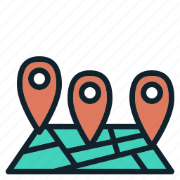 drop, location, map, pin icon