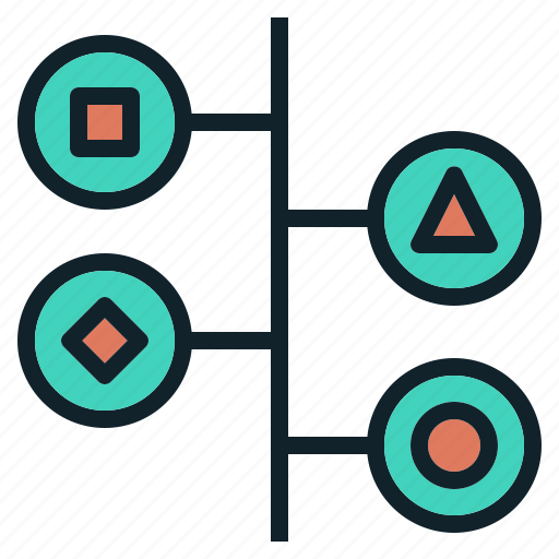 chart, data, process, timeline icon