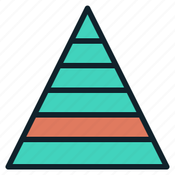 chart, data, hierarchy, infographics, pyramid icon