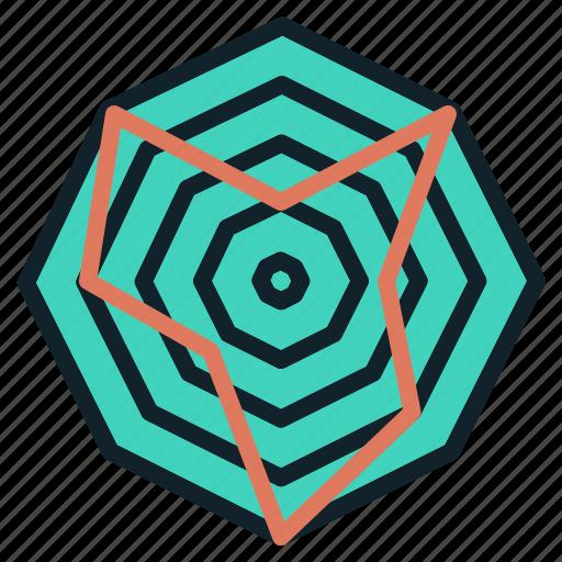 chart, data, radar, score, spider, web icon
