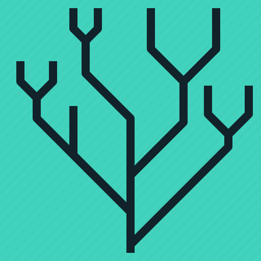 binary, category, group, root, tree icon