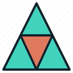 abstract, block, data, group, triangel icon