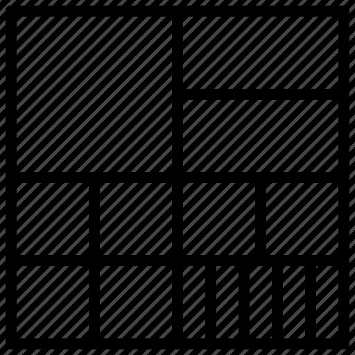 data, design, grid, ui, ux icon