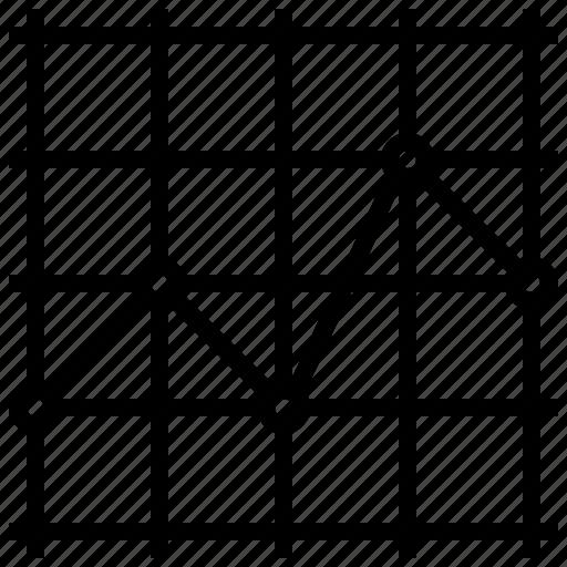chart, data, graph, line, visualization icon