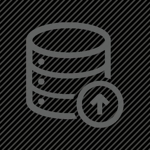 arrow, database, server, up, upload icon