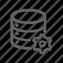 database, gear, options, server, setting