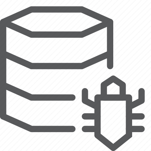 bug, data, database, hosting, issue, layers, network, server icon