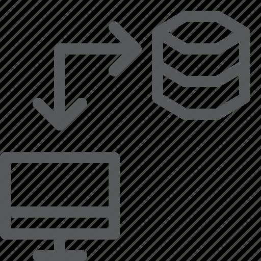 computer, data, database, hosting, imac, network, server, transfer icon