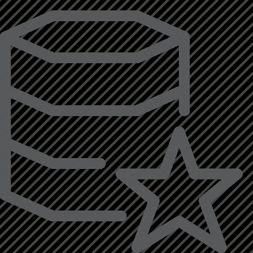 data, database, favorite, hosting, layers, network, server, star icon