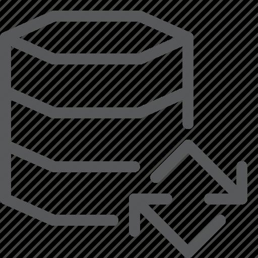 data, database, hosting, layers, network, refresh, server, sync icon