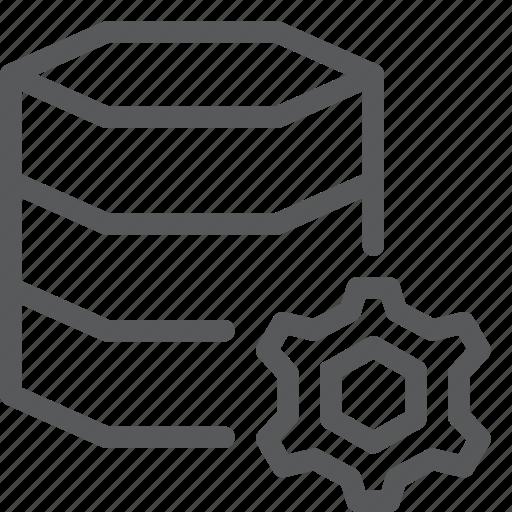 cog, data, database, hosting, layers, network, server, setting icon