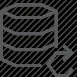 data, database, hosting, layers, network, refresh, server, synchronize icon