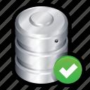 big data, check, data, database, ok, online, tick icon