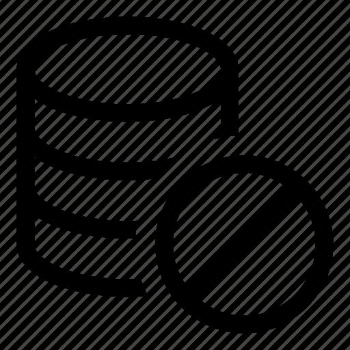 Db, storage, database, prohibition icon - Download on Iconfinder