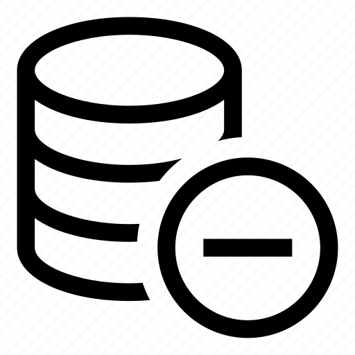 Db, storage, database, remove, minus icon - Download on Iconfinder