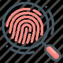 gdpr, magnifying, fingerprint identification, compliance, fingerprint, recognition, identification